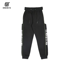 Guangzhou Manifattura Commercio All'ingrosso Stampa Personalizzata LOGO lettera <span class=keywords><strong>pantaloni</strong></span> Slim Fit, Con Coulisse elastico in vita Jogger mens <span class=keywords><strong>Pantaloni</strong></span> Della Tuta