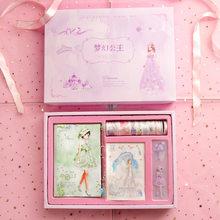Принцесса цветок ручная учетная запись наклейка девушка Подарочная коробка Набор Kawaii обратно в школу студент Kpop Канцелярский набор журнал ...(Китай)