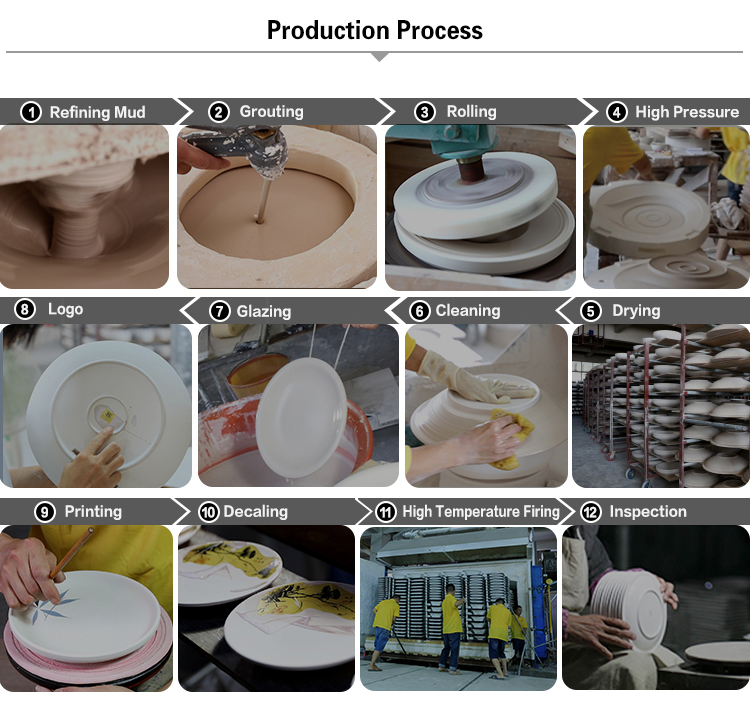 Factory Direct China Wholesale Ceramic Deep Plates Restaurant Porcelain Pasta Plate Hotel Ceramics Soup Plate