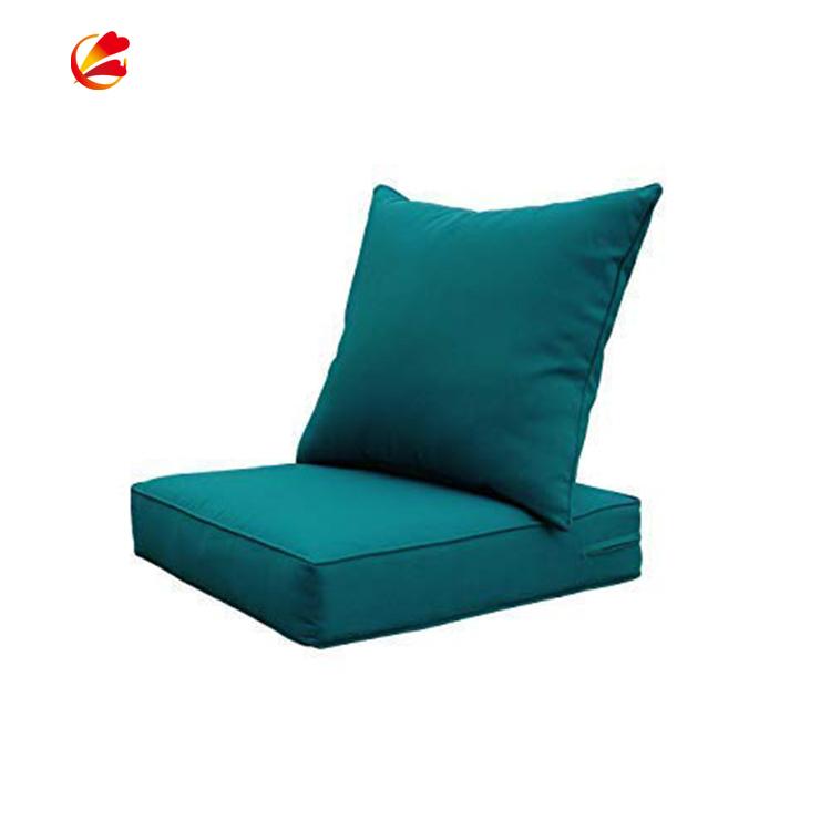 Custom Size Plain Style Outdoor Furniture Loveseat Cushions