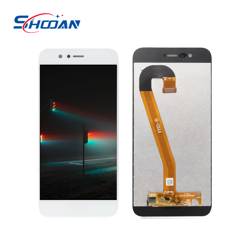 100% Uno per Uno Prova A CRISTALLI LIQUIDI Del Telefono Mobile Per Huawei Nova 2 LCD Display Touch Screen Digitizer Assembly di Ricambio