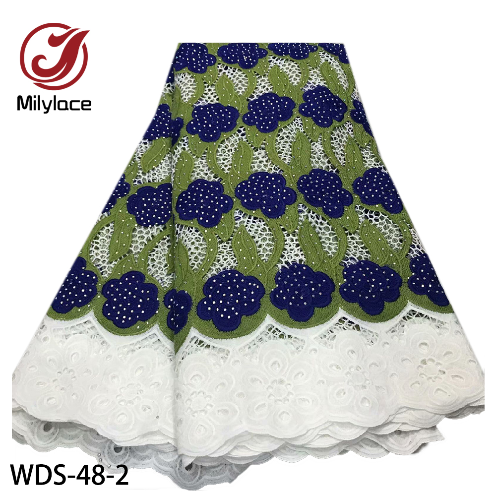 beautiful stoned african embroidery  guipure lace fabric