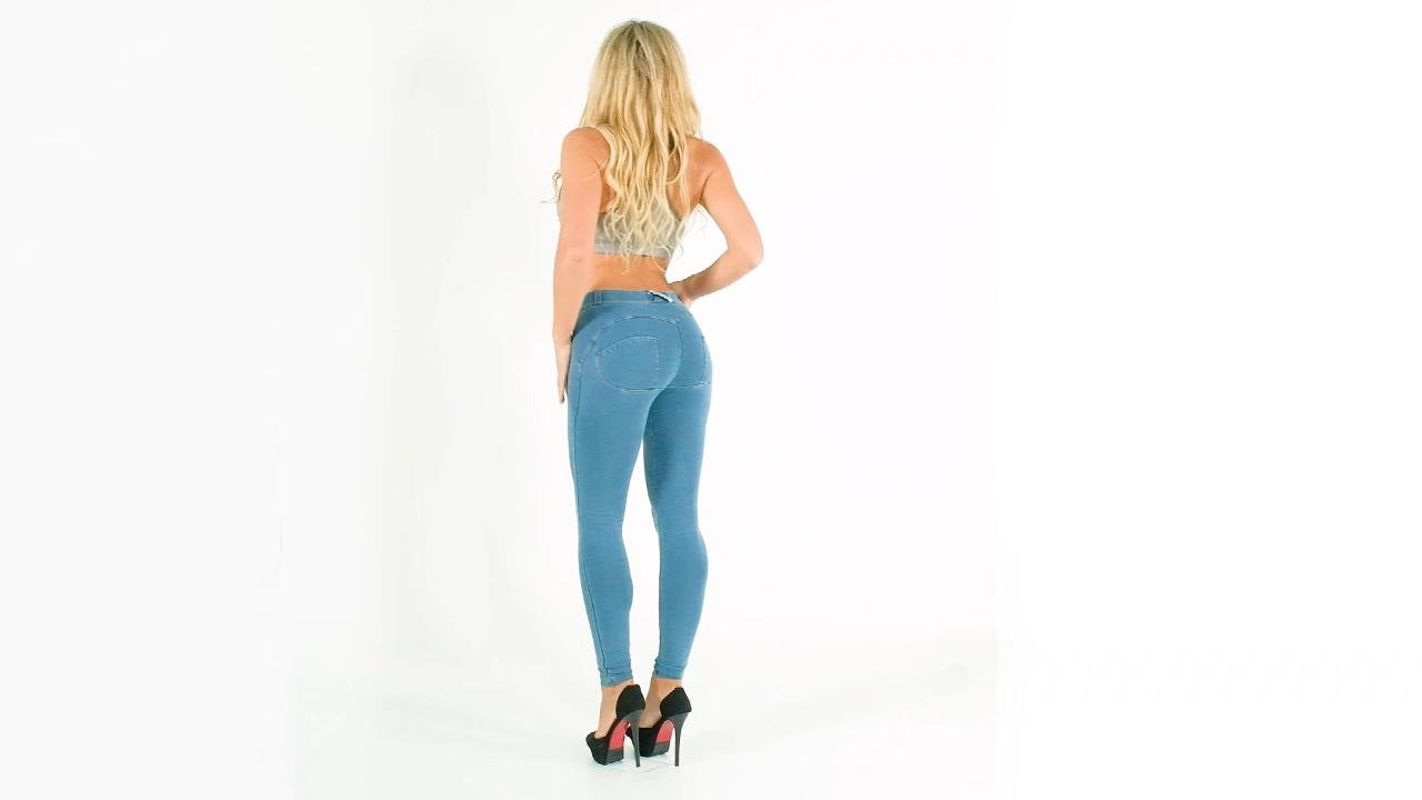 मेलोडी LWDLblueJ खूबसूरत कस्टम सुपर खिंचाव महिलाओं जींस धक्का सेक्सी पतला लड़कियों चुस्त जींस फैशन बट लिफ्ट जींस पतलून