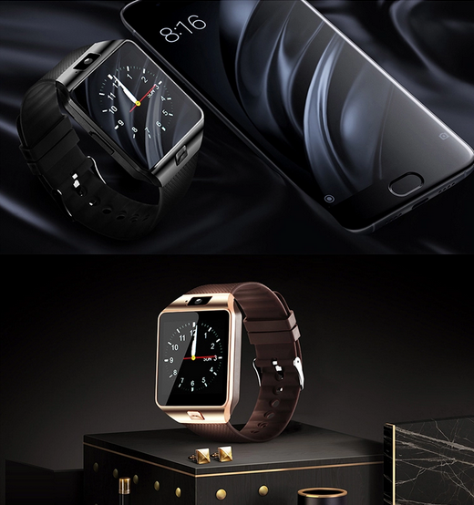 Wholesale Smartwatch DZ09 Android Smart Watch with SIM Card and Camera Mobile Smart Watch Phones  for Men women kid