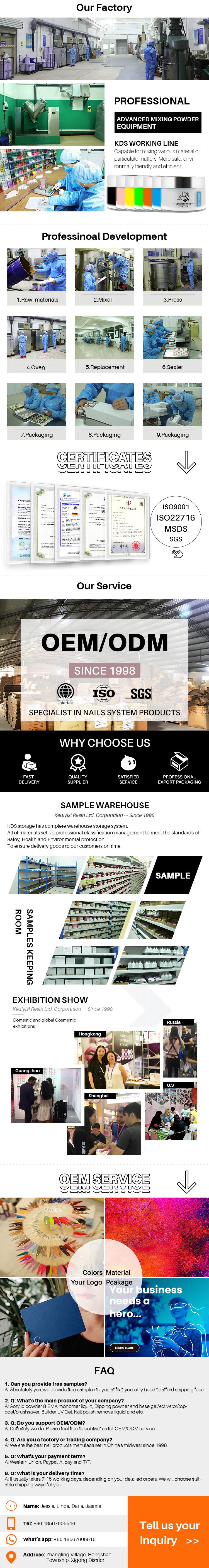 long lasting most popular kds factory wholesale dip powder nails starter kit