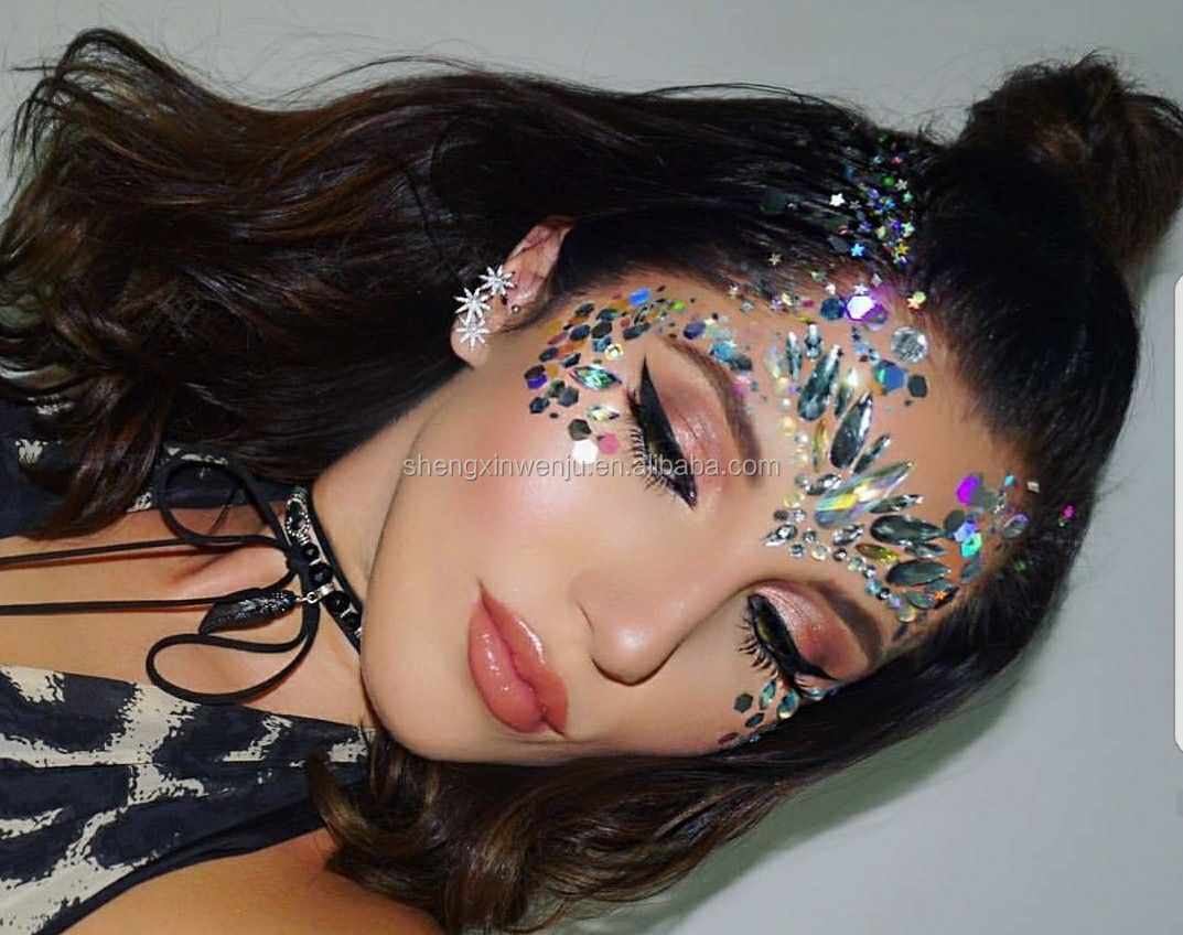 3d Crystal Face Stickers Body Art Adhesive Crystal Glitter Jewels Festival Party Eye Tattoo Stickers Makeup Decor Buy Crystal Face Stickers Body Art Makeup Decor Product On Alibaba Com