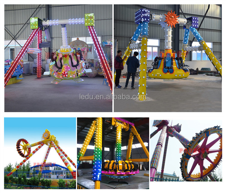 Earn money amusement park rides kids 6 seats small musical pendulum ride for sale