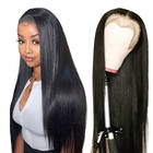 Full Lace Wig Full Cuticle Glueless Transparent Lace Frontal Wig With Baby Hair 100% Virgin Brazilian Human Hair Full Lace Wig For Black Women