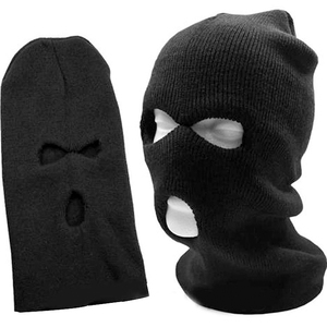 Black Warm Face masks Cap Full Face Cover Mask Three 3 Hole Balaclava Knit Hat Winter Stretch Snow mask Beanie Hat M0139