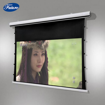 Future Screen Premium Tab-Tension, 100-inch 4:3 Ratio, 4K Electric Motorized Projection Screen With Remote Control