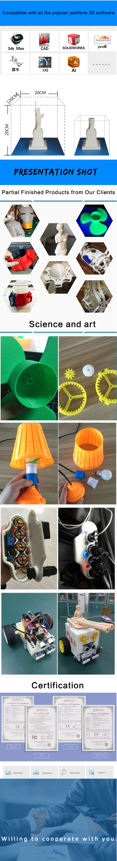 2020 Cina Grande 3D Stampante E Più Nuovo 3d Ugello Della Stampante per 3D Stampa con 300X300X400 Mm 3D Dimensioni di Stampa