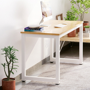 rustic steel simple laptop office desk top stainless