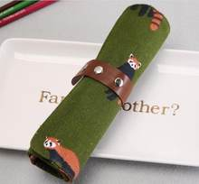 Милый чехол-карандаш с рисунком животных из мультфильма, холст, пенал, школьные принадлежности, студенческий подарок, канцелярский мешочек,...(Китай)