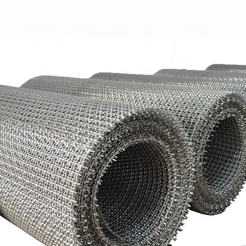 Galvanized Square Woven Wire mesh / Stainless Steel Crimped Wire Mesh