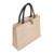 Morecredit Wholesale Natural Burlap Eco Friendly Tote Bags Reusable Jute Shopping Bag With Button Closure