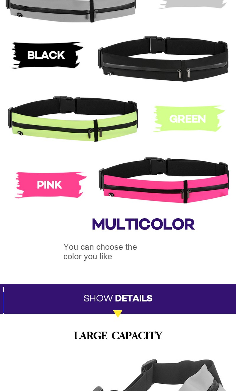 Promising running belt amazon high quality bag soft unisex running waist belt