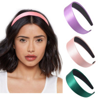 Dvacaman 2019 Wide Cetin Headband from Plastic Women's Color Candy Manners Broad abase Women Summer Hair Hair Hairband Alley