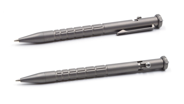 ใหม่ล่าสุดออกแบบกลางแจ้งSurvivalโลหะEdcปากกาปากกาลูกลื่นไทเทเนียมดินสอ
