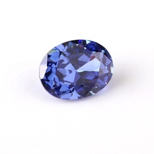 Wuzhou Fabrik synthetische zirkonia Lab made 5A zirkonia lose edelsteine 7*9mm tanzanite oval form <span class=keywords><strong>CZ</strong></span>
