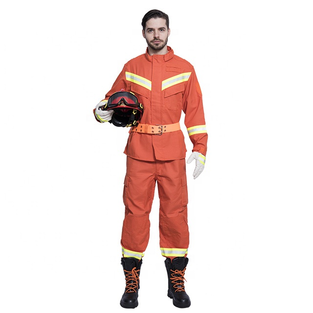 fighter rescue uniform Five piece set customizable fire fighting protective clothing