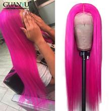 Серый полный парик шнурка человеческих волос бразильские волосы Remy блонд розовый синий красный цвет парики для черных женщин 150% плотность ...(Китай)