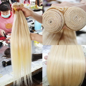 613 color weave human hair Russian blonde bundles with closure frontal