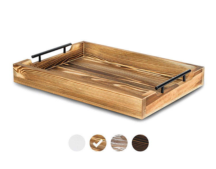 Durable And Light Wood Desk Serving Bed Tray Breakfast