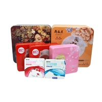 Chinese Factory Square Metal Gift Tin Packaging Boxes