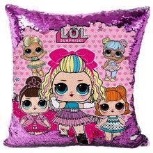 40 см LOL сюрприз куклы для девочек конфетти наволочки с пайетками аниме крытый диван подушка с блестками наволочка подарок на день рождения ...(Китай)