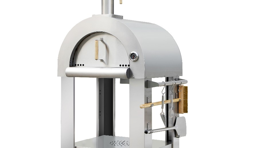 wood fired stainless steel pizza oven for outdoor