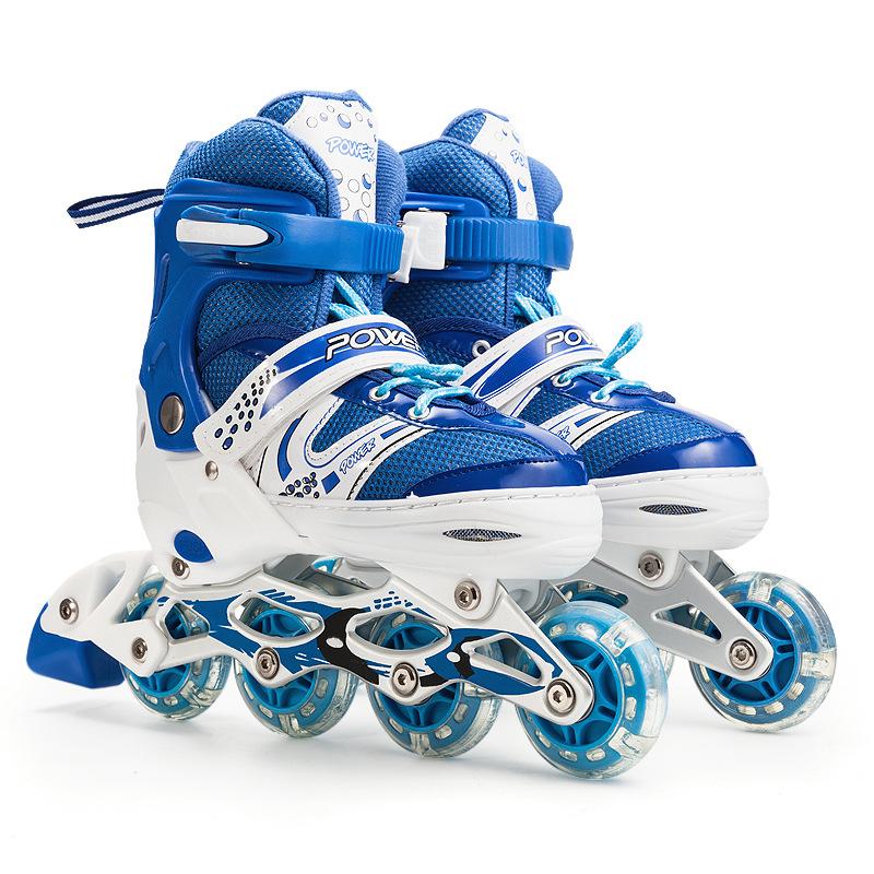 Customized wholesale inline design roller skates promote cheap children's sports roller skates shoes