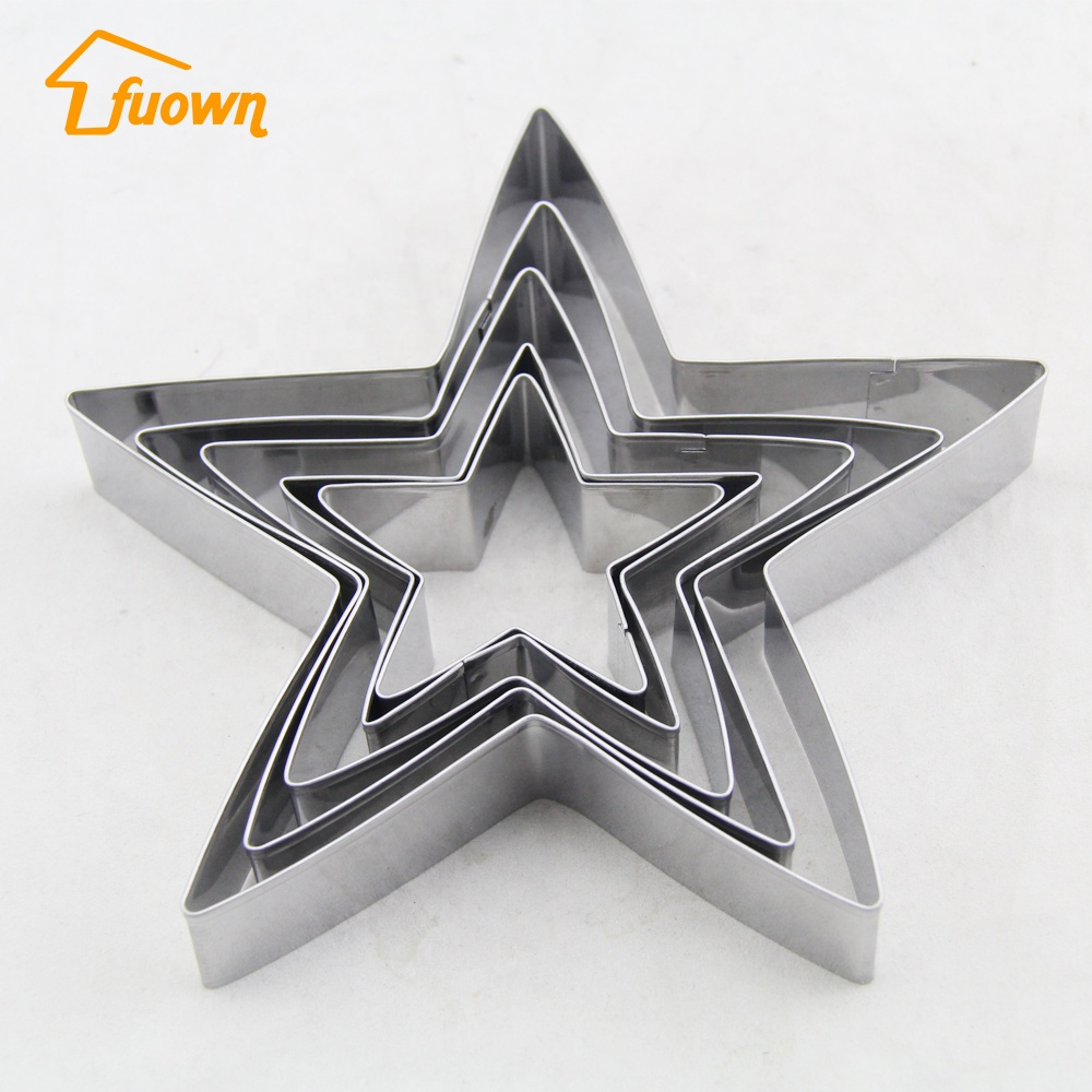 hot Sale! Stainless Steel Star Pattern Cake Cutter Mould Cookie biscuits Cake