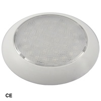 5-1/2 inch LED Dome Light White Plastic, Low Profile boat interior LED dome light with switch for boats and truck