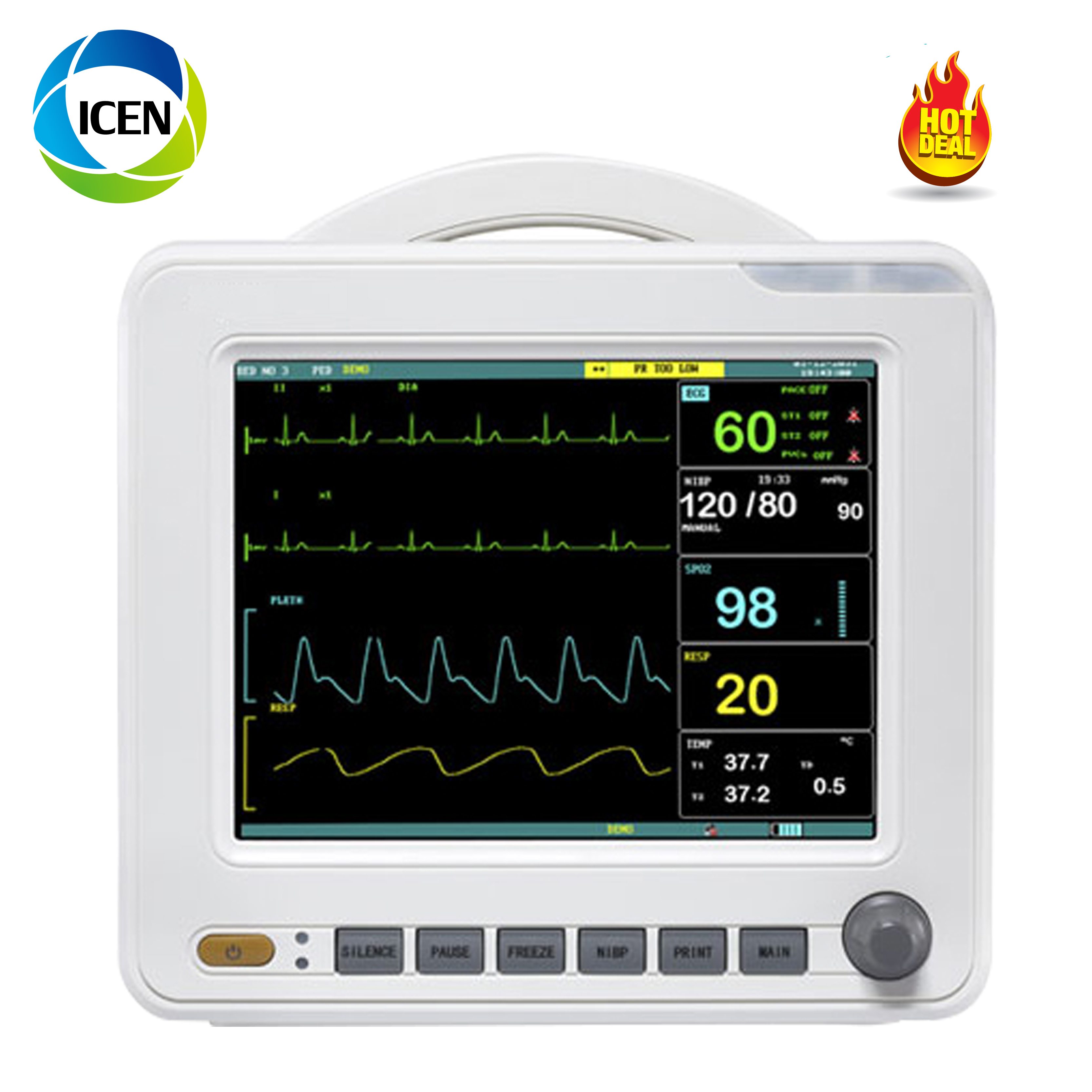 IN-80  Ambulance Patient Monitor Veterinary Multi-parameter Patient Monitor 12inch