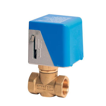 float operated 3way motorized 3-way FCU motorised 3 way 3 control brass ball Valve for cooling with 1 actuator