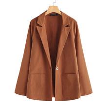 ZANZEA Весна 2020, женские повседневные Пиджаки с длинным рукавом, Элегантные Женские однотонные пиджаки, офисные женские пиджаки, утолщенные па...(Китай)