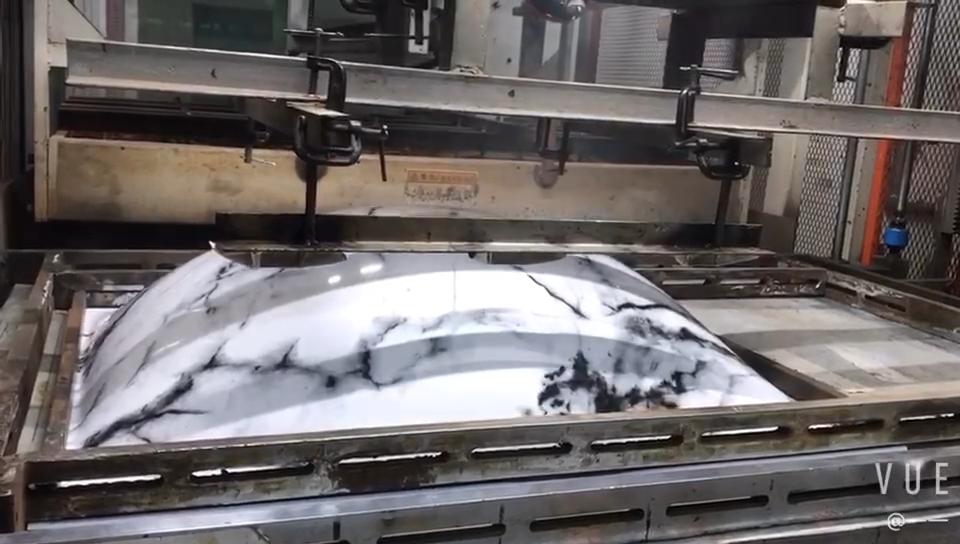 Grande taille plateau en plastique thermoformé