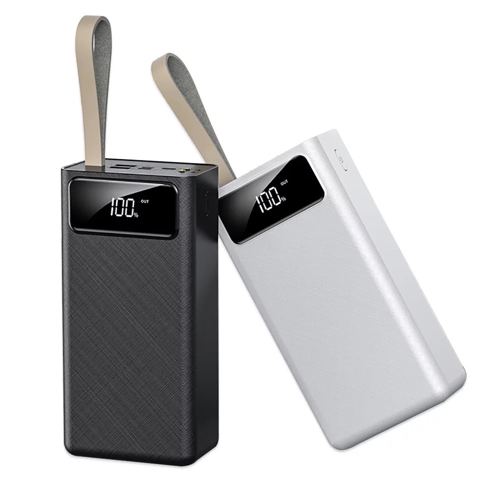 Power Bank 50000Mah Super Kapasitas Tinggi Ponsel Charger Power Supply Triple Input Tipe-C Micro dan Double USB Output