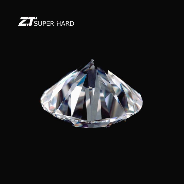 Cvd anello di diamanti taglio bianco lab grown hpht diamanti sintetici lucido grande formato