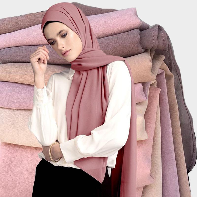 Top Verkauf Großhandel Blase Chiffon Schal Moslemisches Hijab Mode Schal Malaysia Arabische Hijab
