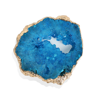 New Arrival Druzy Agate Phone Holder, Gemstone Airbag Bracket Agate Slice Stone Crystal Phone Holder, Cellphone Mount Support