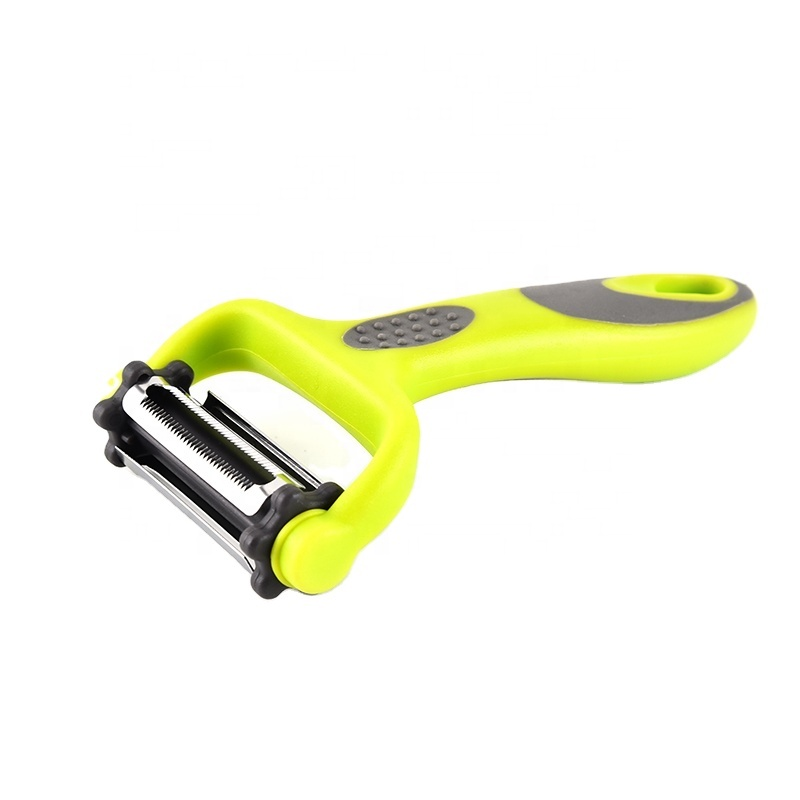 3 in 1 multifunctional kitchen silicone non slip pp handle handheld apple potato onion stainless steel fruit vegetable peeler