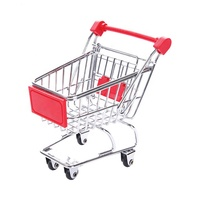 Customized Color Miniature Reusable Lovely Fixed Mini Shopping Trolley