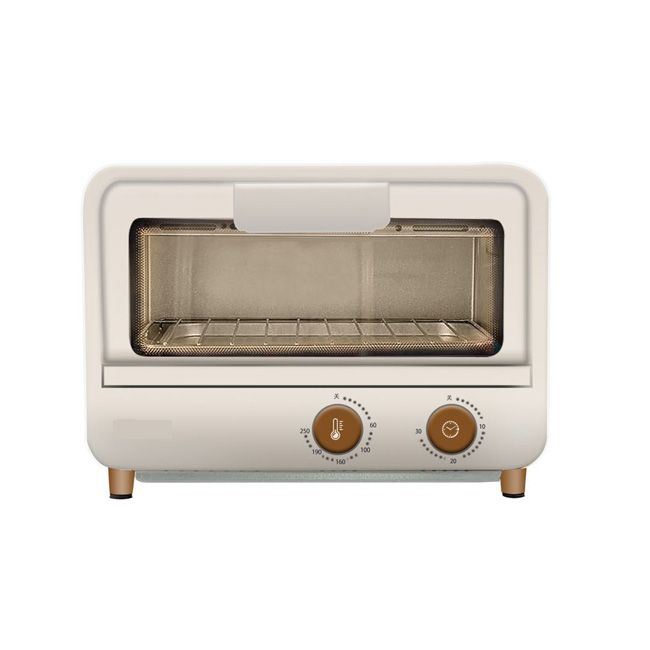 2 Slice 12L Portable Electrical Mini Toaster Oven Bread Baking Element Metal Toaster Oven with Tempered Glass