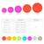 Plastic binding discs in transparent color pack 11 pcs for disc binding planner and notebooks