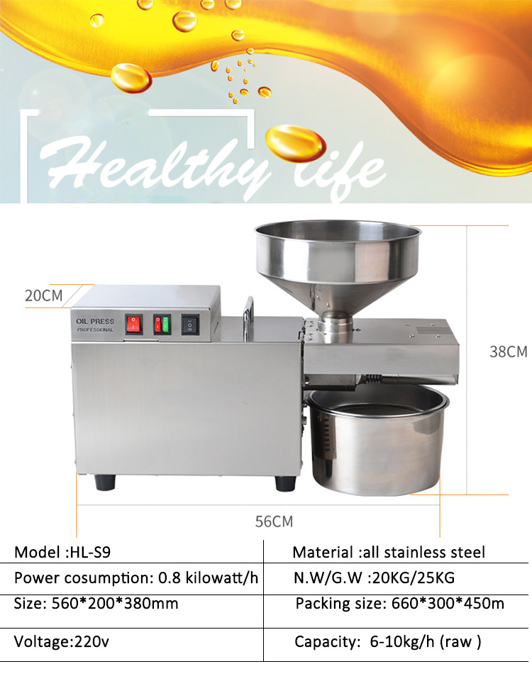 Cbd Oil Extract Pressing Machine Palm Groundnut Oil Processing Machine