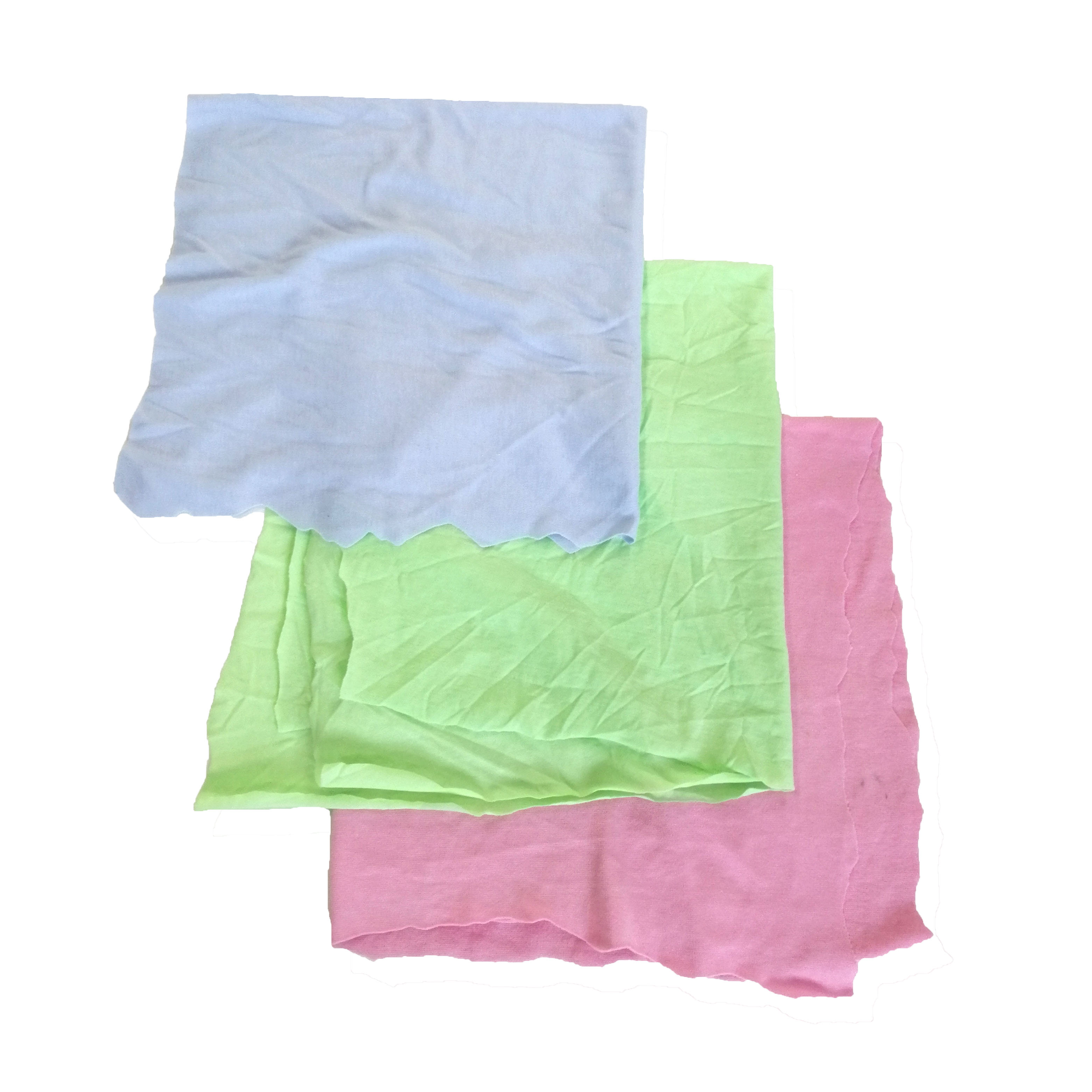 Manufacturers Direct 10kg bag industrial cloth mixed cheap cleaning rags