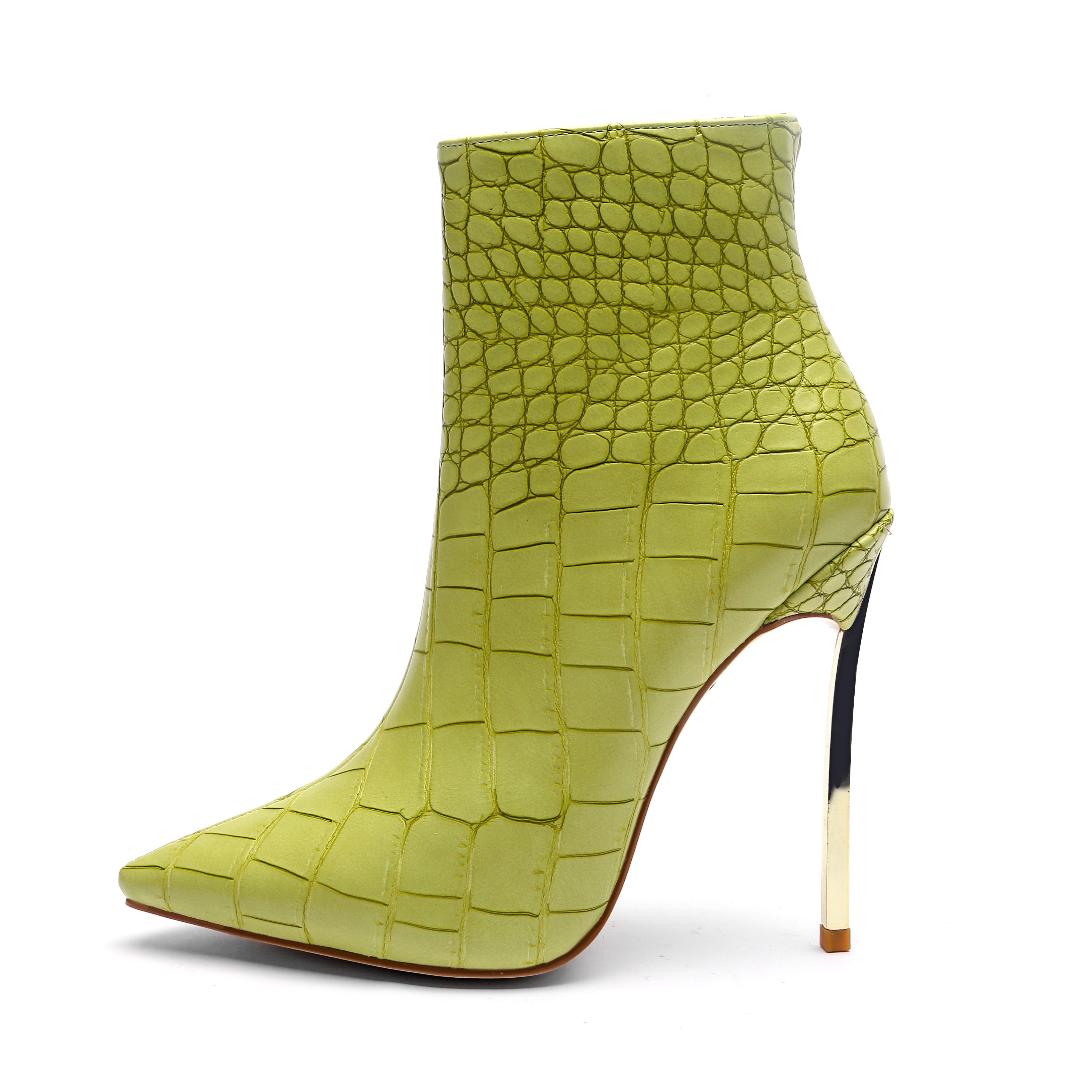 Cina Commerci All'ingrosso Delle Signore Del Metallo Dell'oro Zapatos Mujer Sexy Degli Alti Talloni Delle Donne Stivali Scarpe Per L'inverno