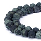 Rhyolite Matte Rhyolite Beads 4~12mm Matted Green Rhyolite Round Gemstone Loose Beads 15.5'' Per Strand