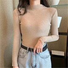 Горячая новинка 2020 женский свитер плюс размер Водолазка пуловер с длинным рукавом вязаная зимняя одежда корейский топ модные свитера для д...(Китай)